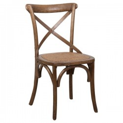 Sedia Thonet in frassino color noce invecchiato rattan