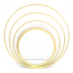 Specchio 75cm glamour stile moderno in metallo dorato