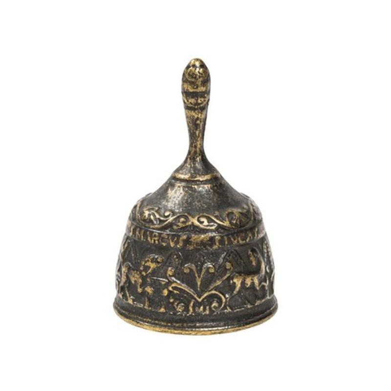 Campanella 4 evangelisti ottone brunito campana da scrivania