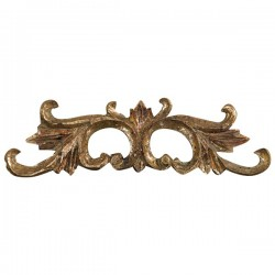 Frieze 19cm gold golden baroque style resin wall decorative element decor