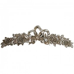 Frieze 47cm silver baroque style resin wall decorative element decor