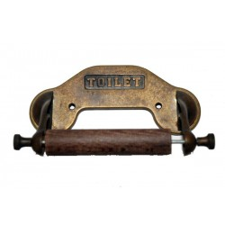 Toilet paper roll holder burnished brass bathroom