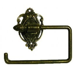 Burnished brass toilet roll holder Victorian style Empire