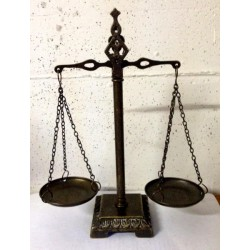 Brass balance 28cm steelyard double scale burnished