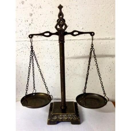 Brass balance 28cm steelyard double scale burnished