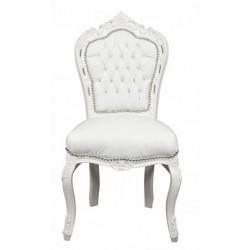 Poltrona gemme divano barocco bianco shabby
