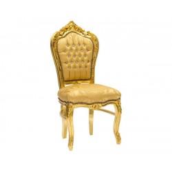 Poltrona sedia barocco Luigi XVI oro in legno gemme