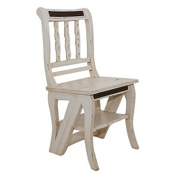 Sedia a scala scaletta bianca shabby chic provenzale