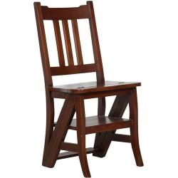 Sedia a scala scaletta scaleo legno noce per libreria biblioteca