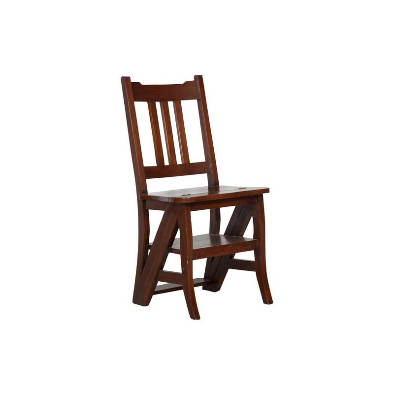 Sedia a scala scaletta scaleo legno noce per libreria ...