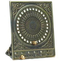 Calendario perpetuo tavolo scrivania ottone vintage