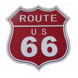 Targa in latta insegna pannello route 66 arredo pub birreria rosso