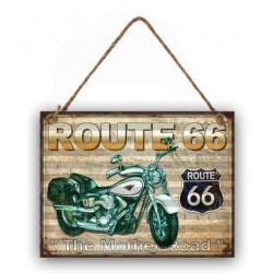 Pannello targa in metallo latta Route 66 USA America