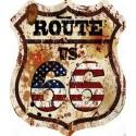 Pannello targa insegna placca metallo latta route 66 America USA