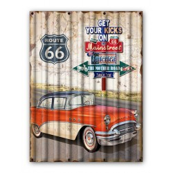 Pannello targa placca latta metallo auto Route 66 USA
