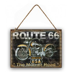 Pannello targa placca latta metallo moto Route 66 USA