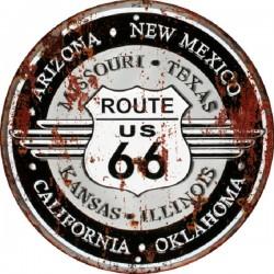 Targa pannello insegna metallo placca latta Route 66 America