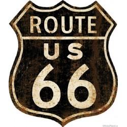 Targa pannello insegna metallo USA latta route 66 America