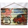 Targa pannello metallo insegna latta route 66 vintage USA America