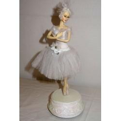 Carillon ballerina bianca che danza a carica classica balletto
