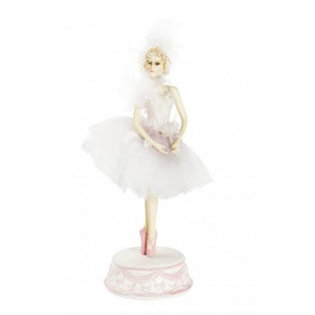 regalo di compleanno rosa Carillon ballerina per ballerina MNJM motivo lago di cigno con piume
