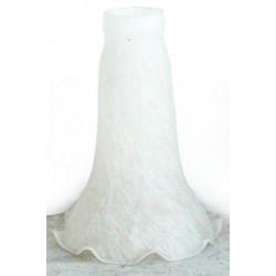 Paralume vetro 10cm calice bianco lampada lampadario ricambio