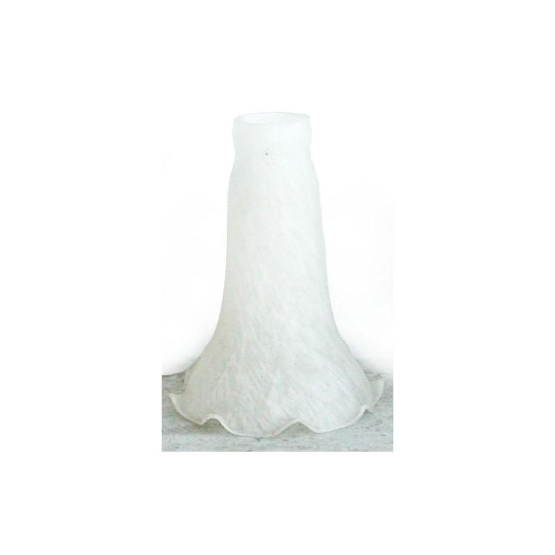 Paralume 10cm vetro calice bianco lampada lampadario ricambio ...