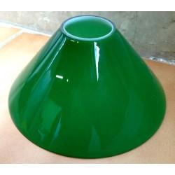 Paralume vetro 18cm cono verde ricambio lampada lampadario