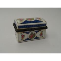 Portagioie scatolina ceramica dipinte cofanetto porta pillole scatola