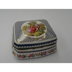 Portagioie scatolina ceramica dipinta cofanetto porta gioie gioielli scatola oro