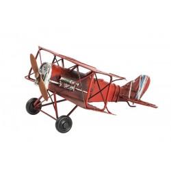 Modellino aereo in latta croce rosso modellismo collezionismo