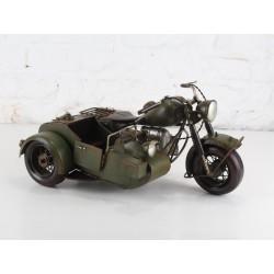 Modellino moto sidecar BMW275 militare latta modellismo collezione collezionismo