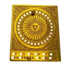 Calendario perpetuo tavolo scrivania ottone lucido vintage art decò