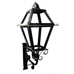 Applique lanterna con mensola parete esterno ferro battuto lampada lampione
