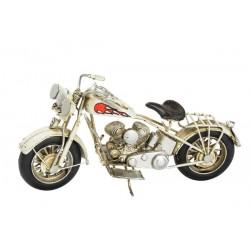 Modellino moto motocicletta custom fiamme latta modellismo collezionismo