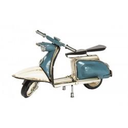 Modellino moto modello Vespa bianca azzurra latta modellismo collezione