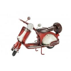 Modellino moto modello Vespa bianca rossa latta modellismo collezione
