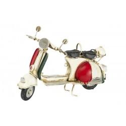 Modellino moto modello Vespa bandiera Italia latta modellismo collezione