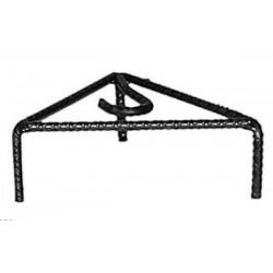 Treppiede 25cm ferro battuto porta padella pentola camino caminetto supporto