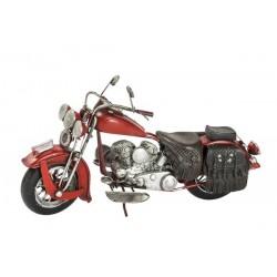 Modellino moto motocicletta custom rosso latta modellismo collezionismo
