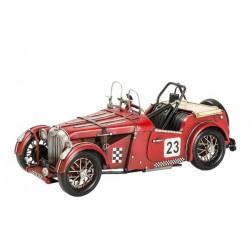Modellino macchina in latta da corsa numero 23 cabrio modellismo collezione