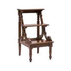 Scala scaletta libreria scaleo legno di mogano vintage mobile coloniale