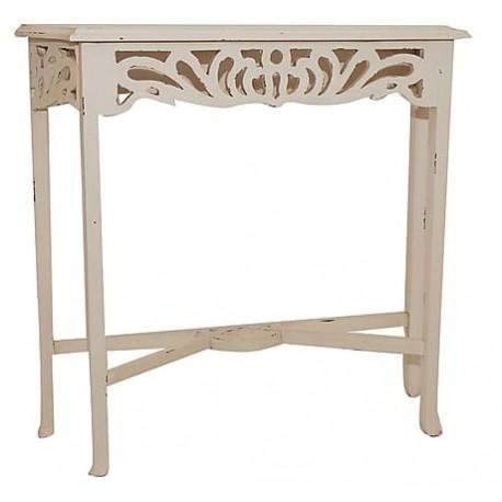 Consolle console legno bianco mogano classico shabby chic mobile ...
