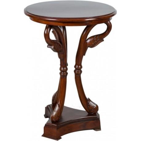 Tavolino tavolo rotondo cigni in legno di noce tavolo - Tavolino salotto rotondo ...