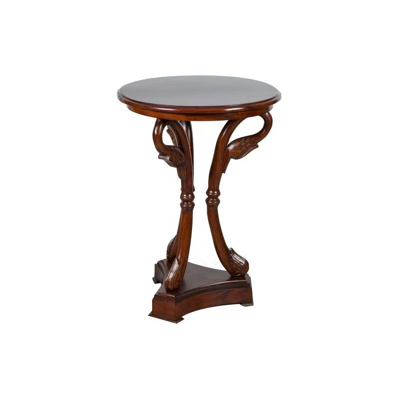Tavolino tavolo rotondo cigni in legno di noce tavolo - Tavolo rotondo in legno ...