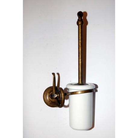 Accessori Bagno Ottone Brunito.Portascopino Scopino Toilette Ottone Brunito Ceramica Serie Onda Arredo Bagno Virginia S Cottage