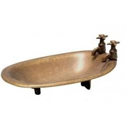 Portasapone porta sapone arredo bagno toilette ottone brunito vasca da bagno