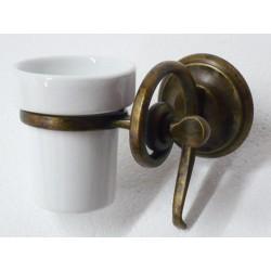 Portaspazzolini porta spazzolino toilette ottone brunito serie Onda arredo bagno