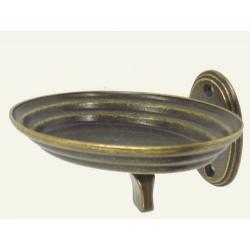 Portasapone porta sapone arredo bagno toilette ottone brunito Classic vintage