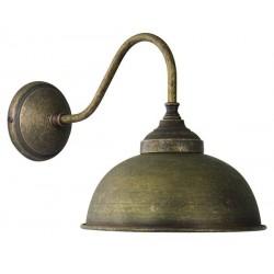 Applique da muro 1 luce Oslo ottone brunito vintage lampada parete luce